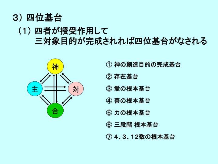 3) 四位基台