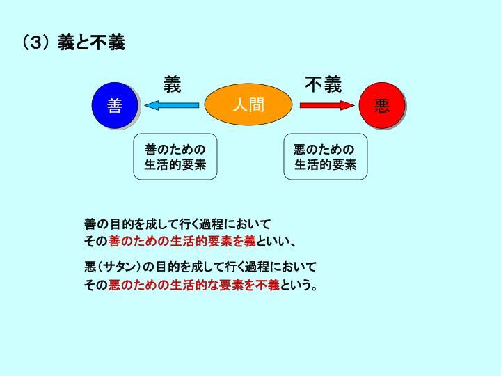 (3) 義と不義
