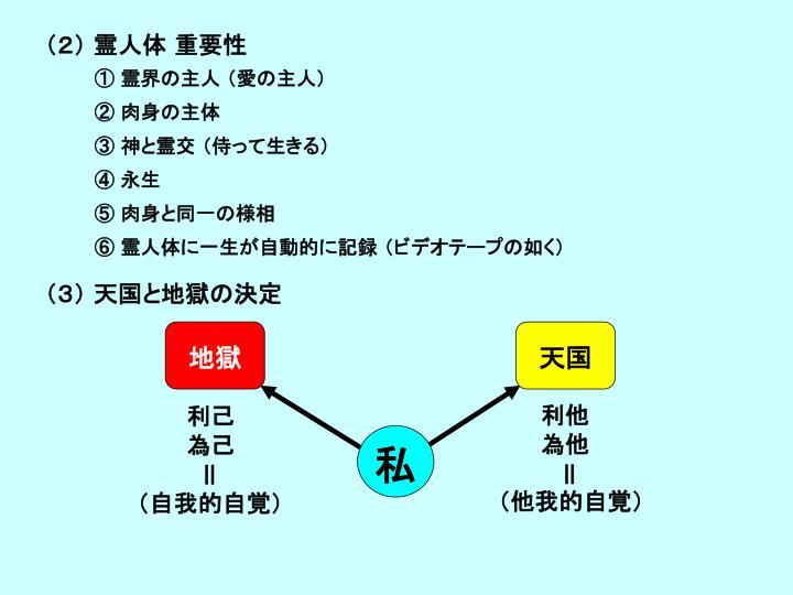 (2) 霊人体