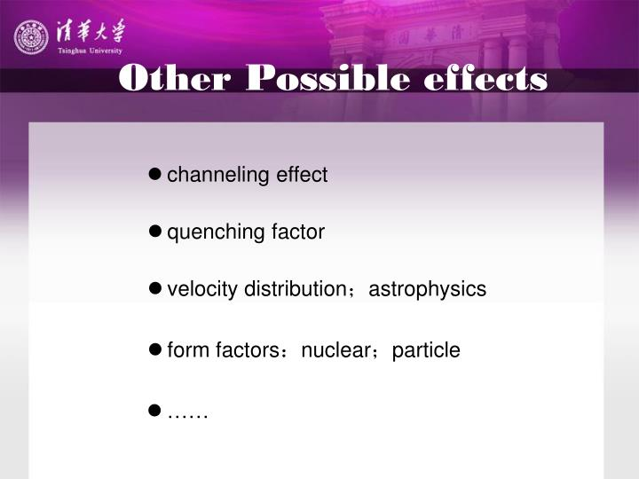 Other Possible effects