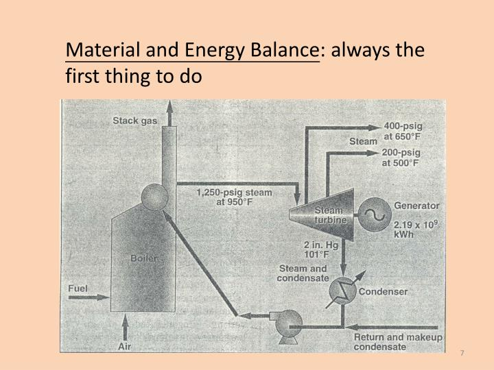 Material and Energy Balance