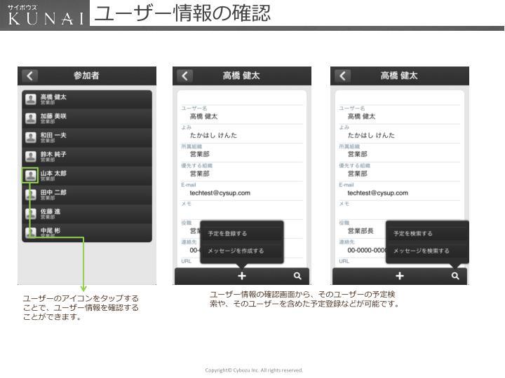 ユーザー情報の確認