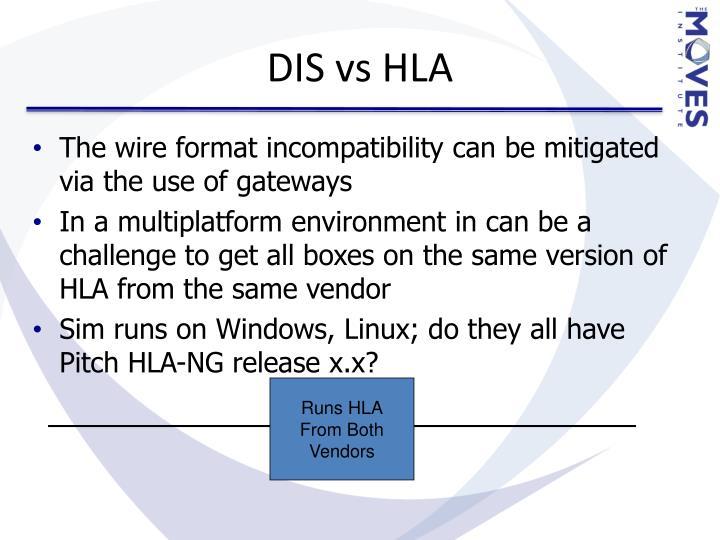 DIS vs HLA