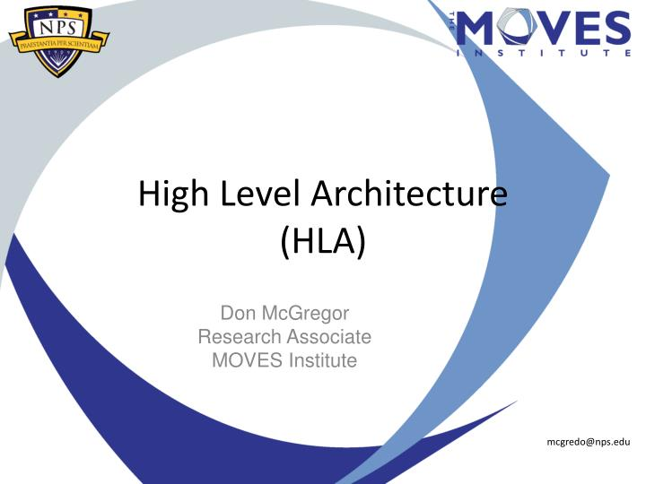 High level architecture hla
