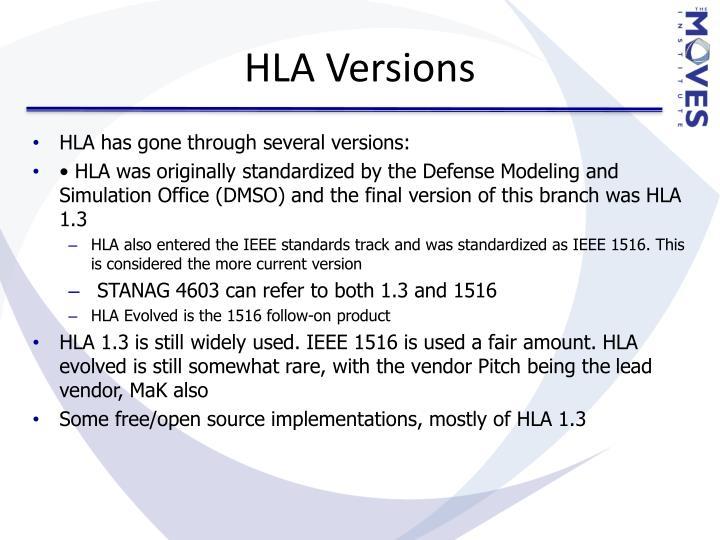 HLA Versions