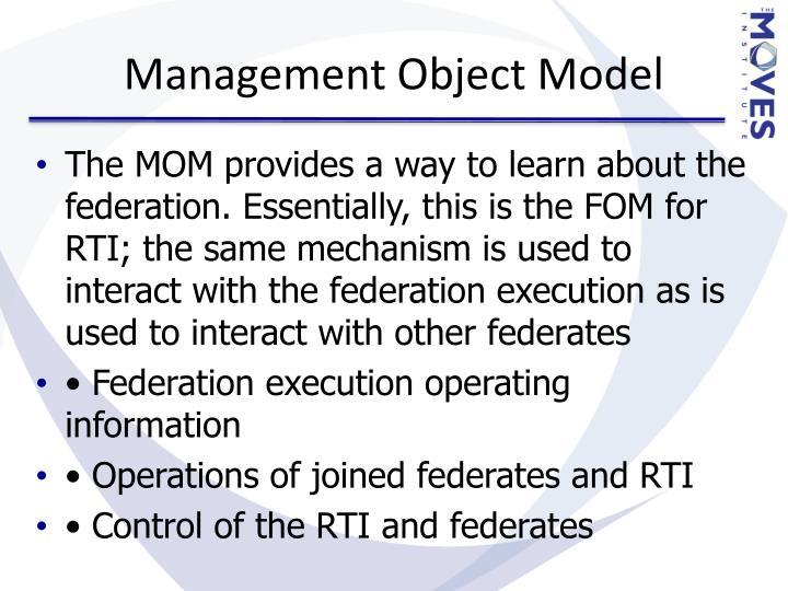 Management Object Model