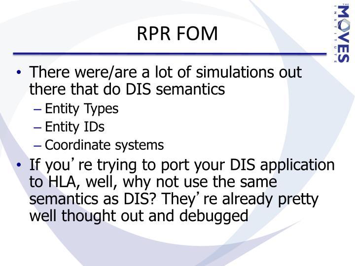 RPR FOM
