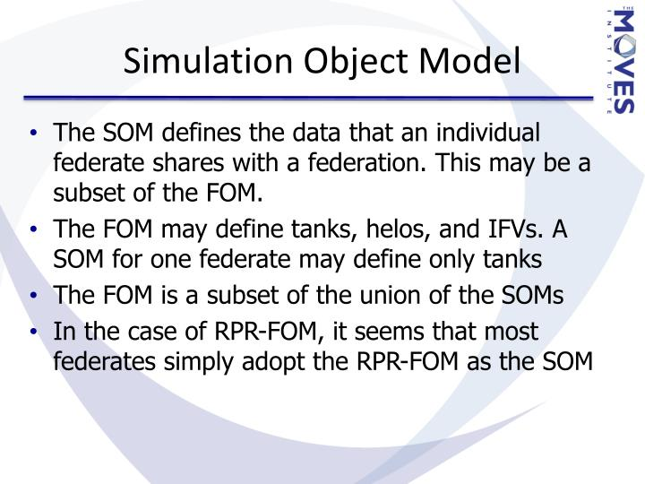 Simulation Object Model