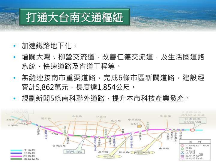打通大台南交通樞紐