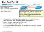 port cost port id