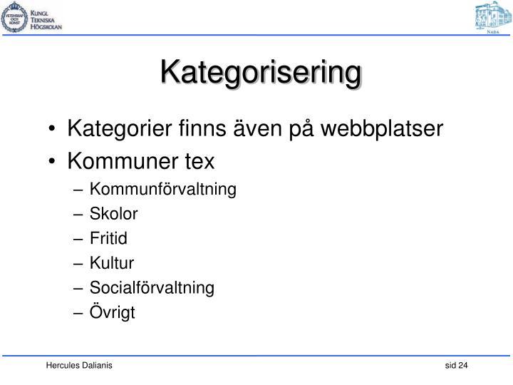 Kategorisering