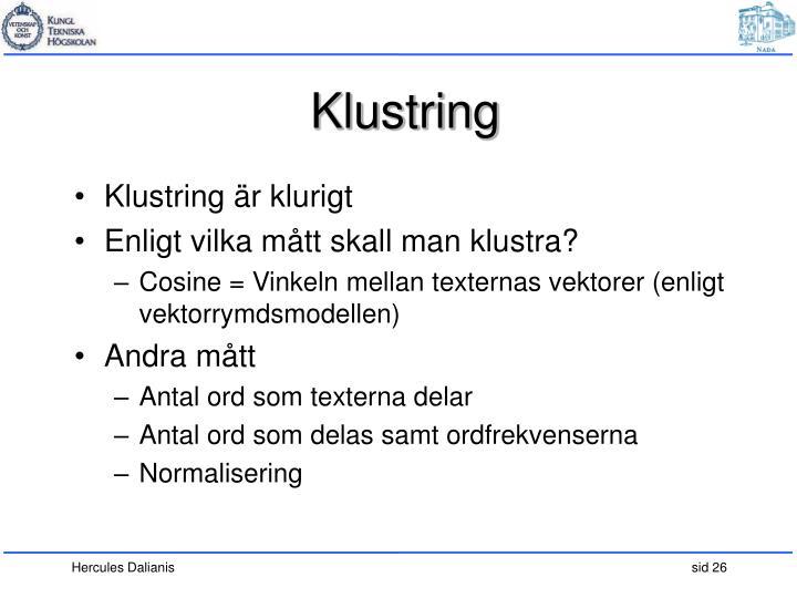 Klustring