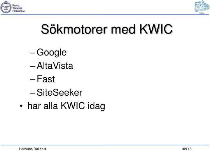 Sökmotorer med KWIC
