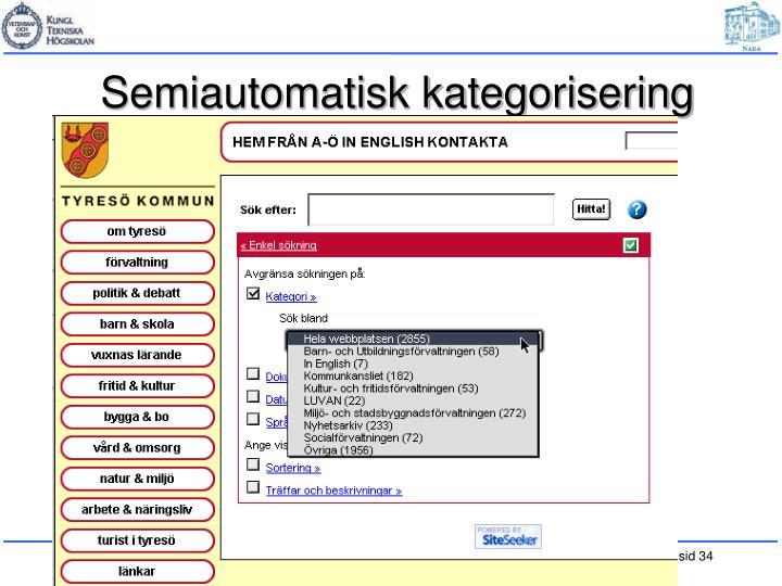 Semiautomatisk kategorisering