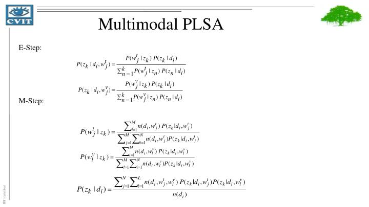 Multimodal PLSA