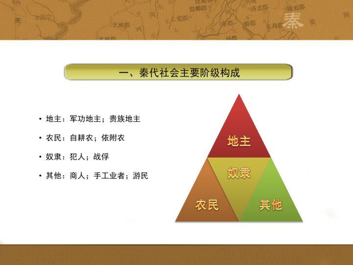 一、秦代社会主要阶级构成