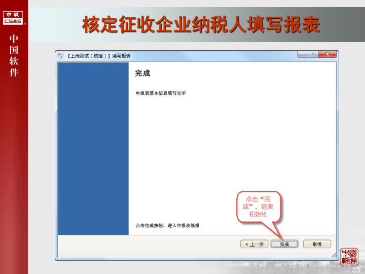核定征收企业纳税人填写报表