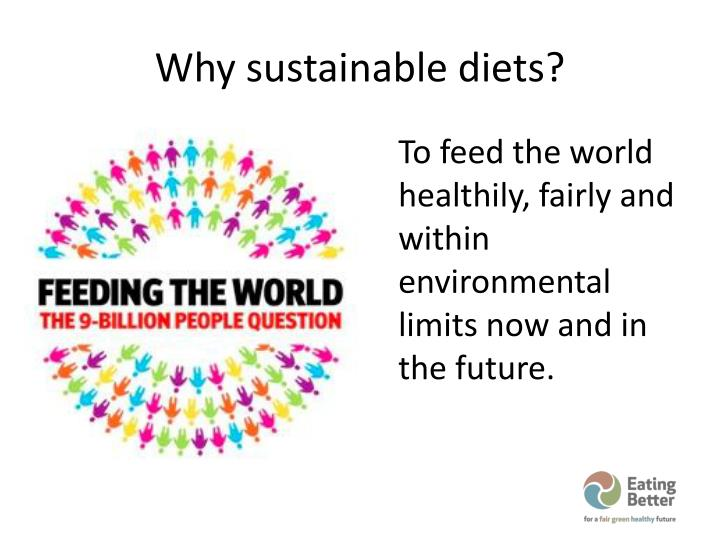 Why sustainable diets?
