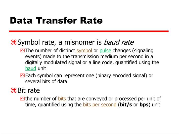 Data Transfer Rate