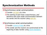 synchronization methods
