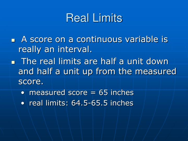 Real Limits