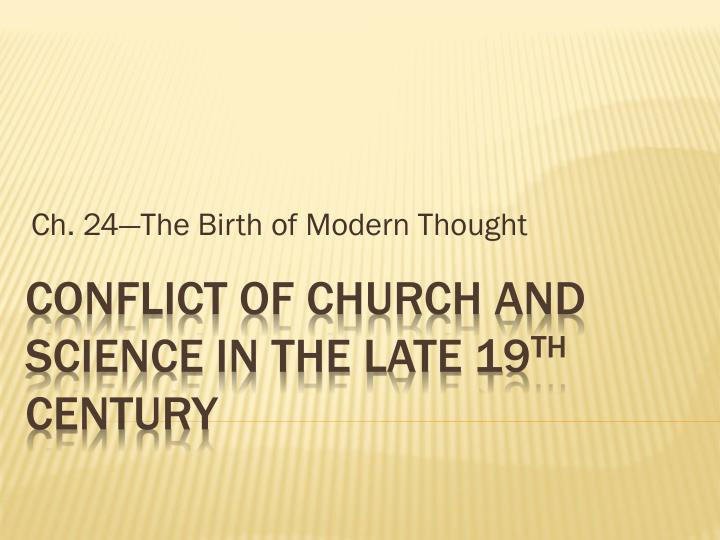 Ch 24 the birth of modern thought