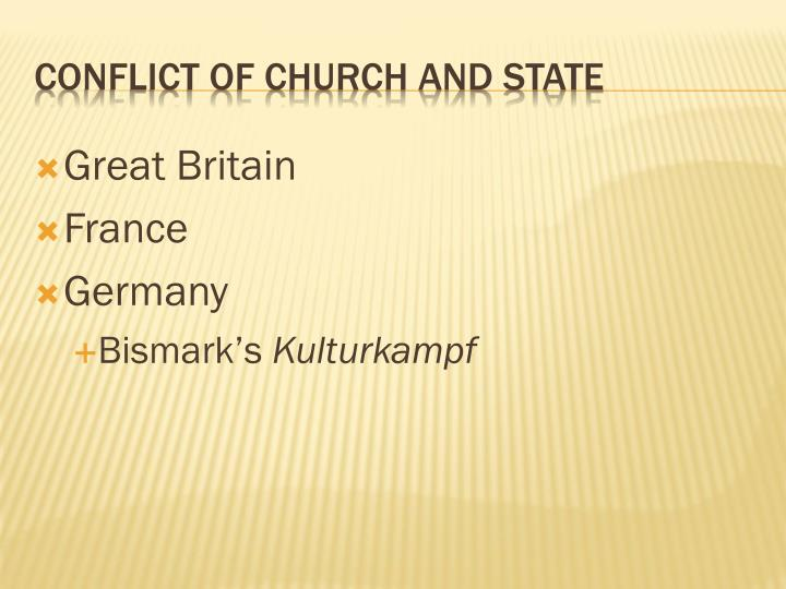 Conflict of church and state
