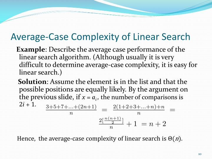 Average-Case Complexity of Linear Search