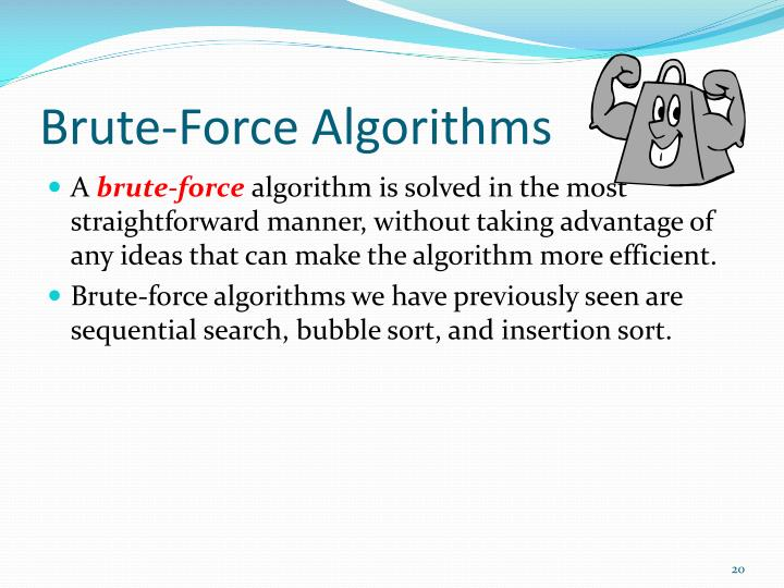 Brute-Force Algorithms