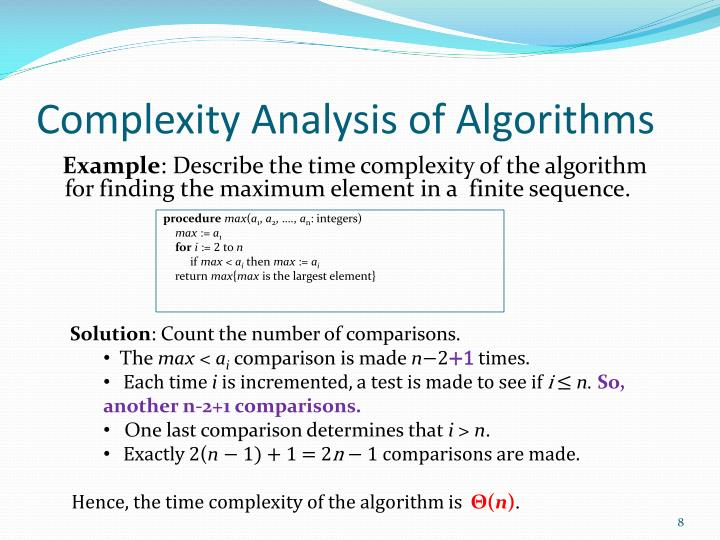 Complexity Analysis of Algorithms