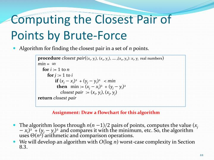 Computing the Closest Pair of Points by Brute-Force