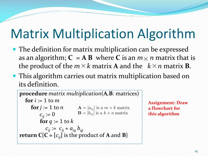 Matrix Multiplication Algorithm