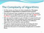 the complexity of algorithms1