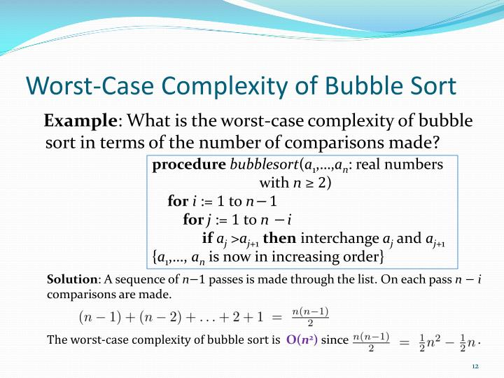 Worst-Case Complexity of Bubble Sort