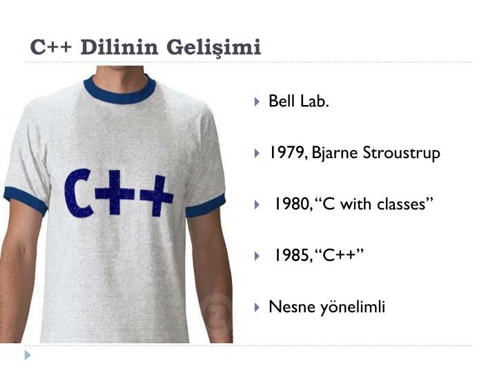 C++ Dilinin Gelişimi