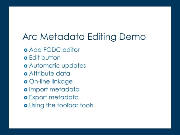 Add FGDC editor