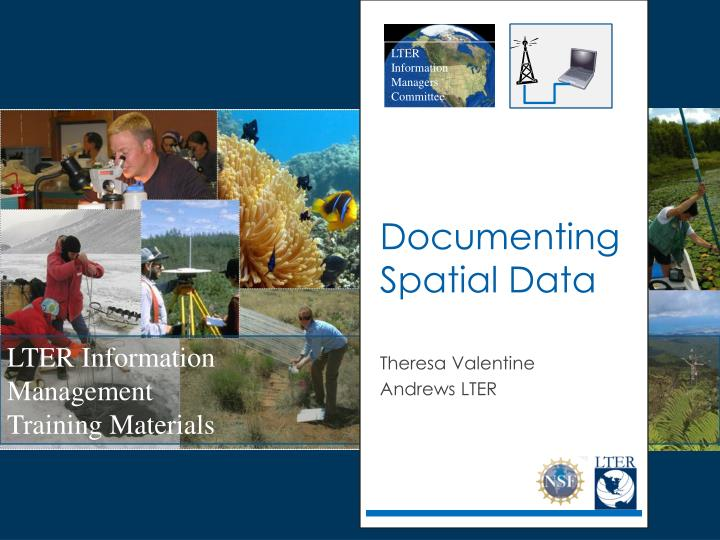 Documenting spatial data