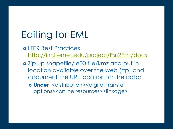 LTER Best Practices