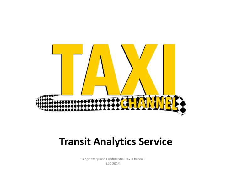 Transit Analytics Service