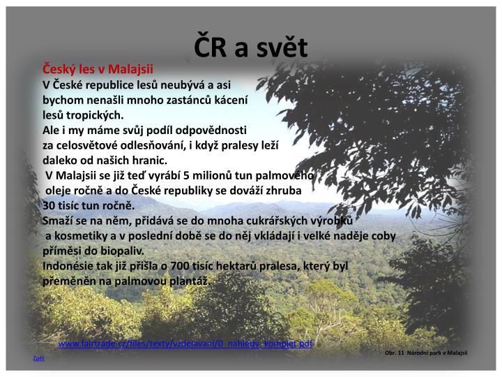 ČR a svět