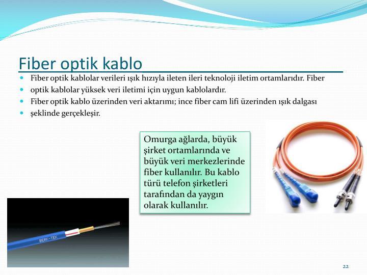 Fiber optik kablo______________________