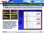 2 polymorphism of ralstonia solanacearum rs