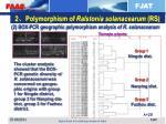 2 polymorphism of ralstonia solanacearum rs1