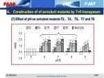 4 construction of of avirulent mutants by tn5 transposon5