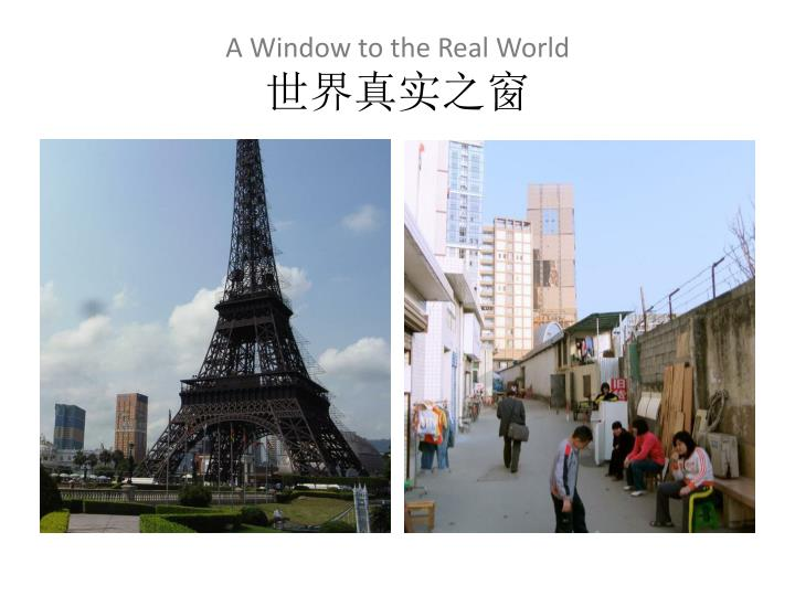 A Window to the Real World