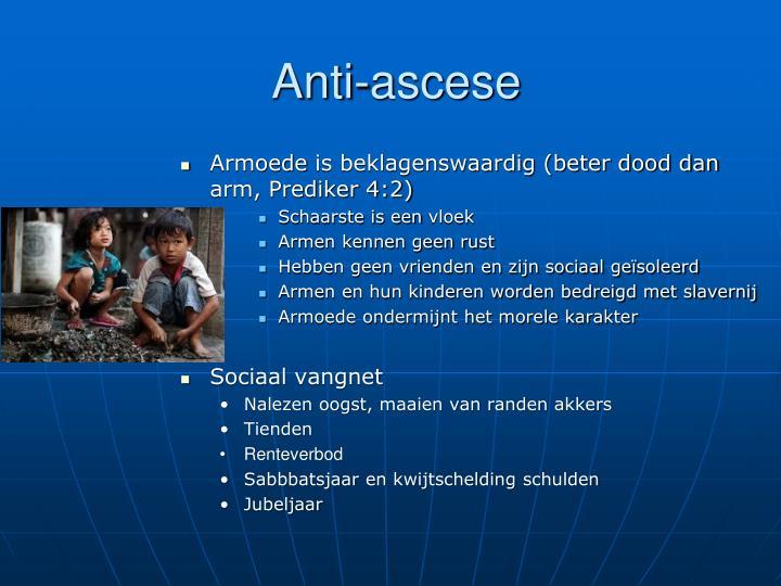 Anti-ascese