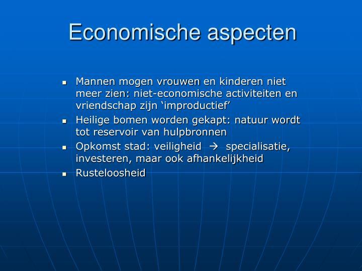 Economische aspecten