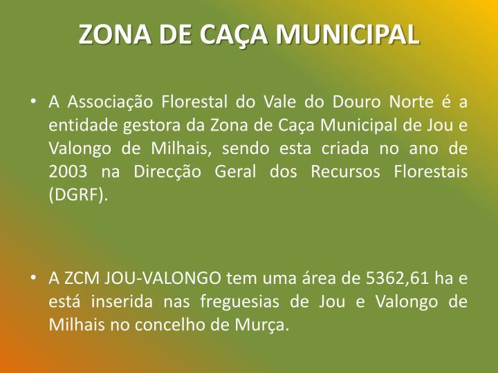 ZONA DE CAÇA MUNICIPAL