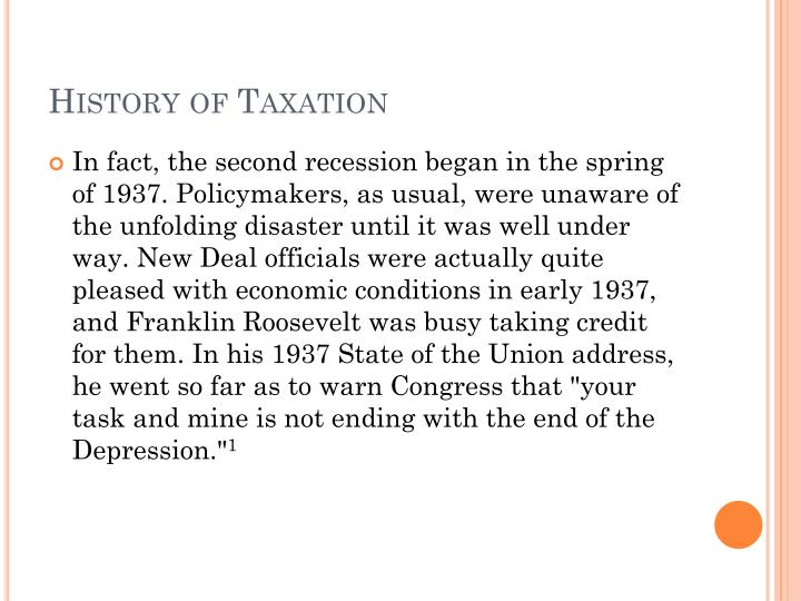History of Taxation