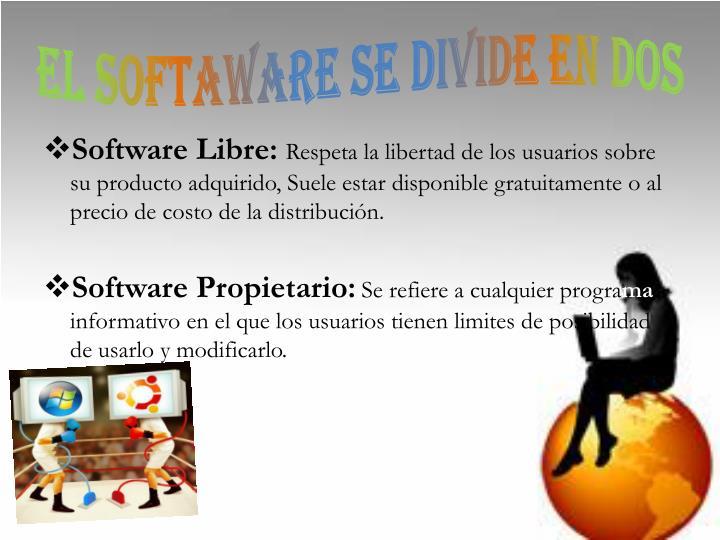 EL SOFTAWARE SE DIVIDE EN DOS